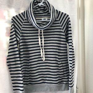 Old Navy Striped Draw String Cowl Neck Sweatshirt